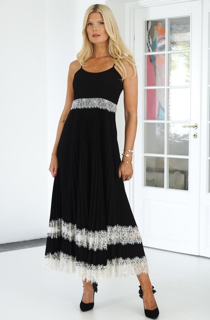 TWINSET - Lace Slip Dress Plisserad