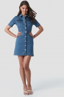 NAKD - Button Up Mini Denim Dress