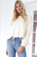 TWINSET - Cotton Knit and Lace Jumper