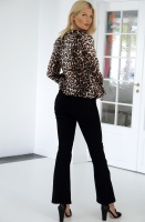 ALIX THE LABEL - Jacquard Animal Blouse Leo