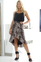 ALIX THE LABEL - Animal Jacquard Leo Skirt