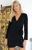 ALIX THE LABEL - Black Wrap Dress