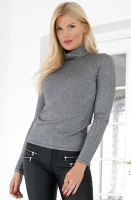 ALIX THE LABEL - Longsleeve Herringbone Top