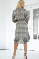 ALIX THE LABEL - Snake Chiffon Long Dress
