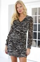 ALIX THE LABEL - Aniimal Chiffon Dress Zebra