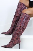CUSTOMMADE - Agneta Knee High Boot Pointy