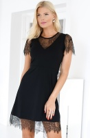 FRENCH CONNECTION - Madalyn Lula Jersey Lace Mix Dress