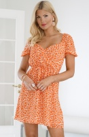FRENCH CONNECTION - Etta Kiss Neon Printed Dress