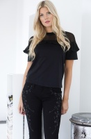 GRACE - Black Flower Jeans
