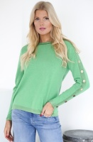 GUSTAV - Knitted Sweater with GoldButtons