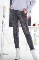 GUSTAV - Stretch Leather Snake Pants