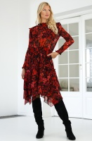IMPERIAL - MidLong Utralightweight Red Dress