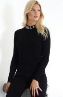 KARL LAGERFELD  Logo Turtleneck Sweater