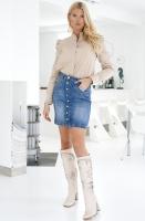 MOS MOSH - Vicky Denim Skirt Decor