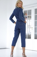 NA-KD - Waist Belt Denim Jumpsuit