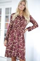 NA-KD - Chain Print Satin Midi Dress
