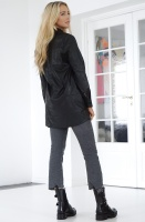 NA-KD - Faux Leather Shirt Dress