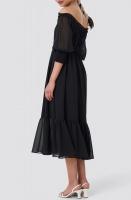 NA-KD - Off Shoulder Midi Chiffon Dress