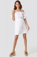 NA-KD - Off Shoulder Puff Sleeve A-line Dress