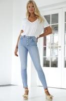 NA-KD - Skinny High Waist Zipper Jeans