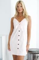 NAKD - Tie Front Button Mini Dress