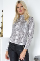 NOTES DU NORD - Dallas Blouse Snake Noir