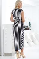 NOTES DU NORD - Dallas Maxi Dress Noir Stripe