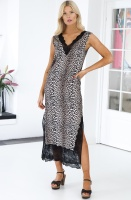 NOTES DU NORD - Lulu Silk Dress Leopard