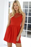 RUT & CIRCLE - Must Jasmine Dress Red
