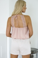 RUT & CIRCLE - Open Back Lace Singlet