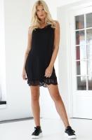 RUT & CIRCLE - Stine Lace Dress Black