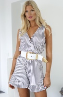 RUT & CIRCLE - Fatima Stripe Playsuit