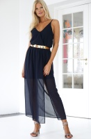 RUT & CIRCLE - Wrap Long Dress