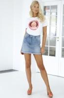 NAKD - High Waist Raw Hem Denim Skirt