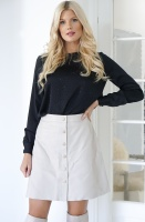 TWINSET - Black Blouse with Stoens