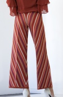 TWINSET - Striped Glitter Pant