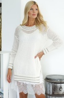 TWINSET . Mohair Dress with Lurex Stripes