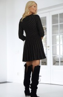 TWINSET - Knitted Black Lurex Dress