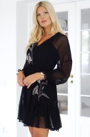 TWINSET - Georgette Dress with Floral Emb