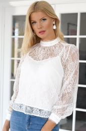 FRENCH CONNECTION - White Lace Top (72NAT)