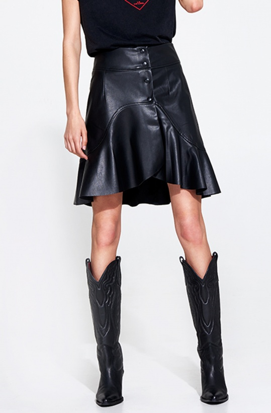 ALIX THE LABEL - Faux Leather Skirt