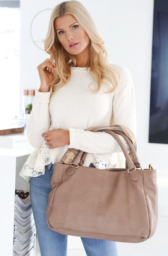 GUSTAV - Python embossed Handbag