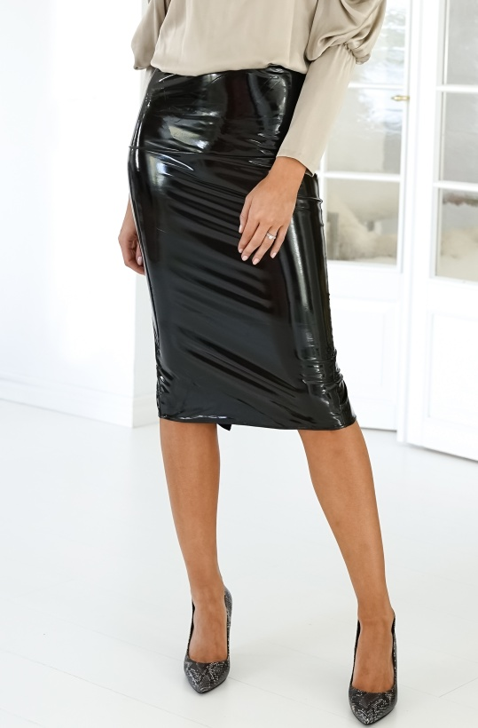 AHLVAR - Hana Latex Pencil Skirt