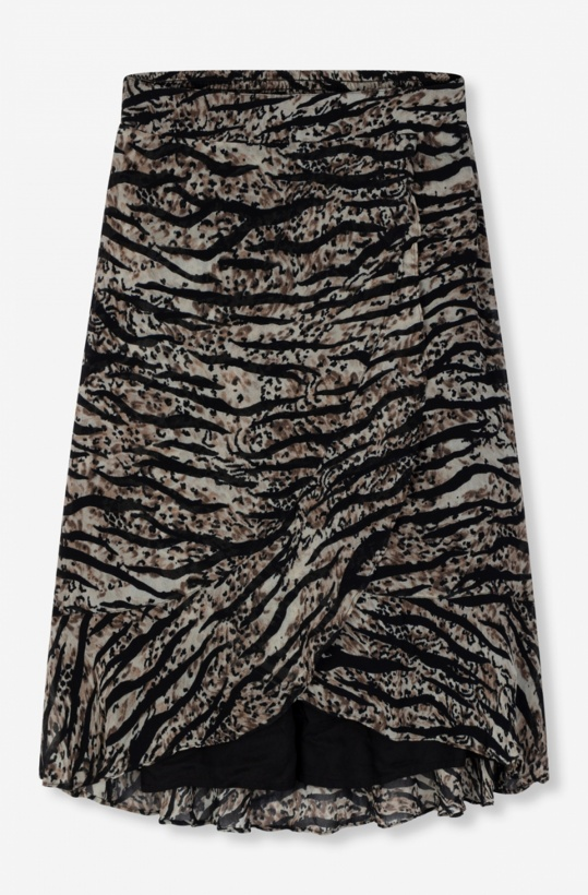 ALIX THE LABEL - Zebra Chiffon Skirt