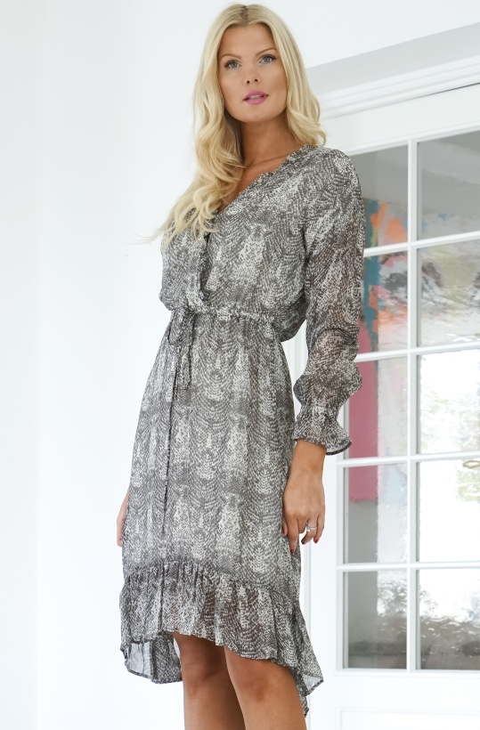 ALIX THE LABEL - Snake Chiffon Long Dress