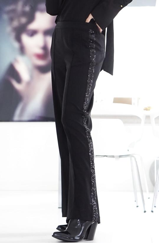 ALIX THE LABEL - Sequin Tape Pants