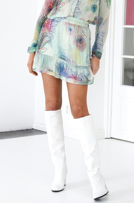 ALIX THE LABEL - Peacock Mini Skirt