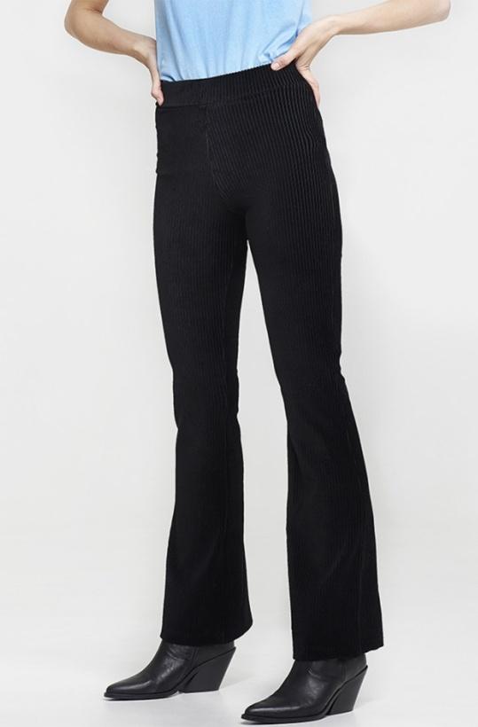 ALIX THE LABEL - Knitted Rib Velvet Flared Pant