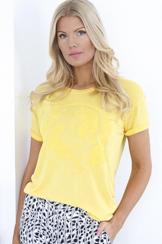 ALIX THE LABEL - Artwork Lycoell Tshirt Yellow