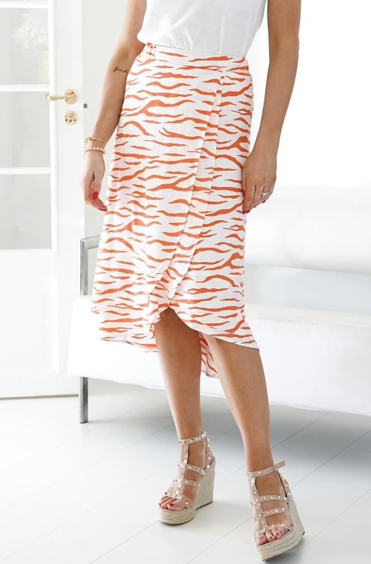 ALIX THE LABEL - Long Zebra Skirt
